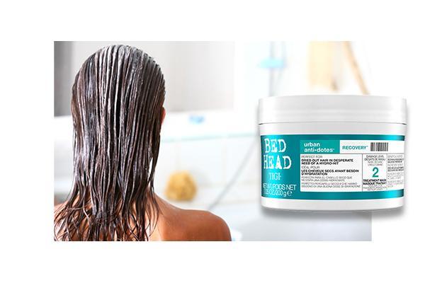 Try moisturising hair masks - get rid of dandruff