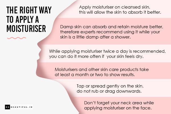 The right way to apply a moisturiser