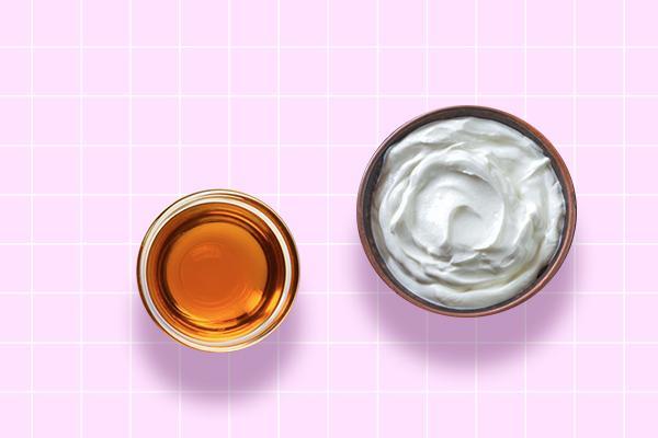 Mustard oil and yogurt hair pack