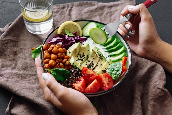 Eat a healthy, nutrition-rich diet