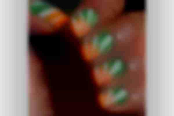 tricolour nail art